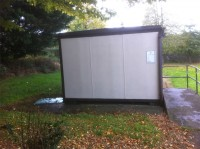 Shed after soft washing by G M Services, Window Cleaning & Power Washing, Cork, Ireland