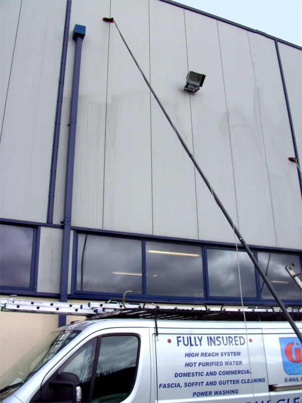 Building Front and windows cleaned by G M Services, Cork Window Cleaners, Ireland
