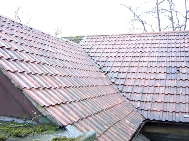 Roof after cleaning and removal of moss and lichen  by GM Services, Cork, Ireland
